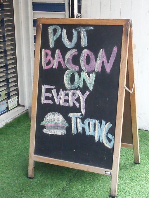 Bacon mania has gone too far.